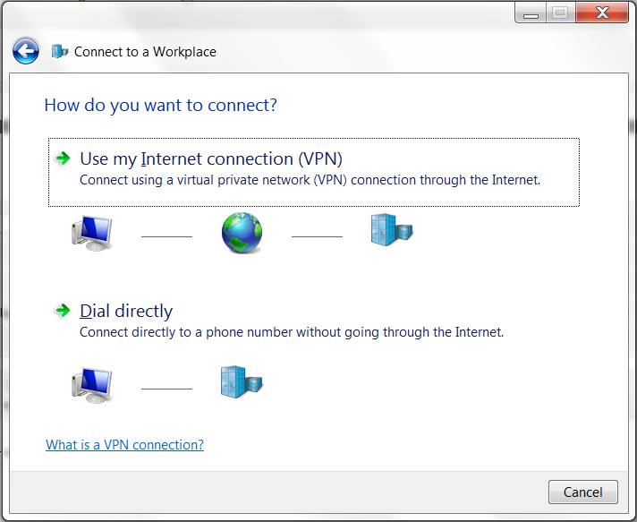 Windows 7 VPN Setup Wizard